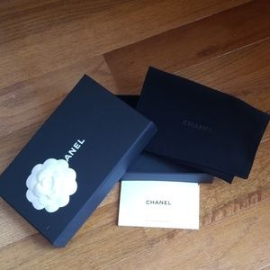 Chanel Hard Wallet Box and Duster